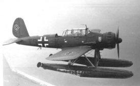 Φωτογραφίες με τους τύπους  αεροσκαφών που απωλέσθηκαν στις Ελληνικές θάλασσες 1939 - 1955arado-196-c