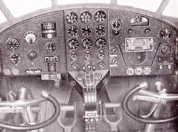 Savoia Marchetti SM79 cockpit
