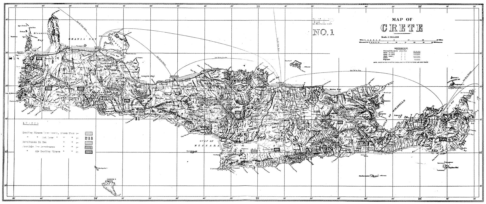 Airborne Invasion of Crete, 1941Map1
