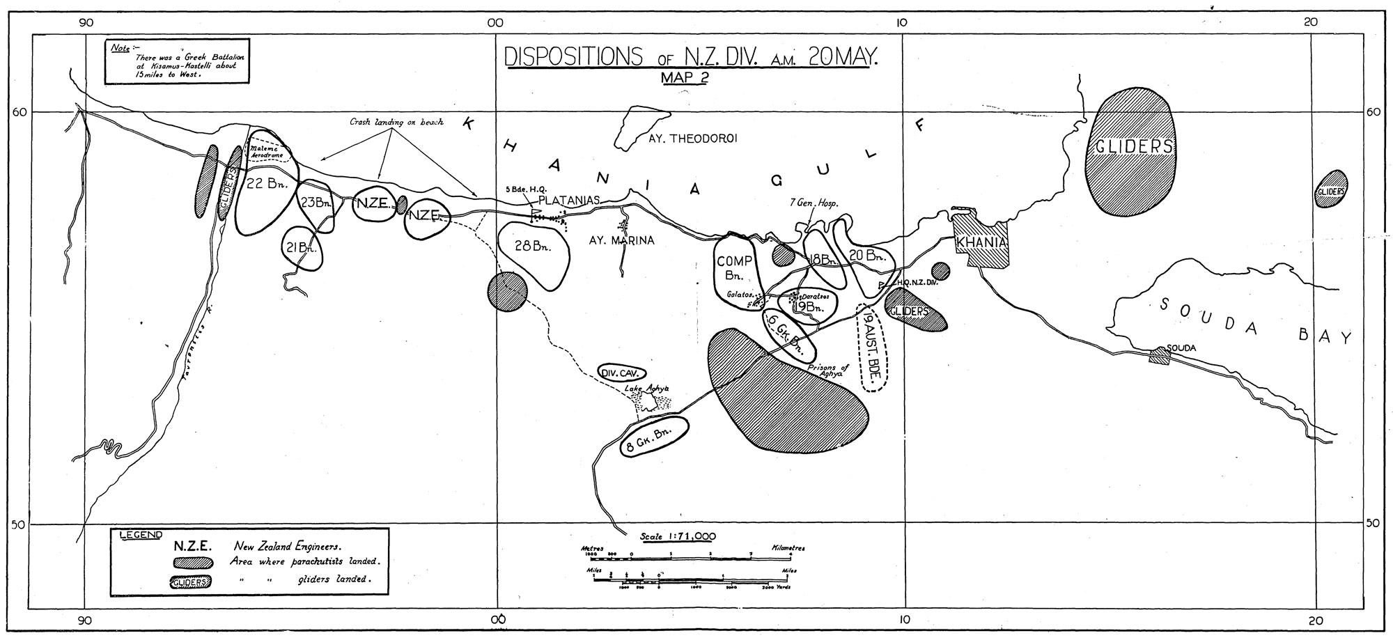 Airborne Invasion of Crete, 1941Map2