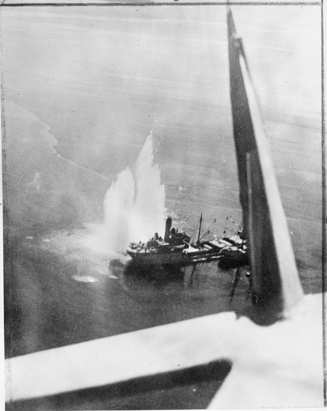 No.252 Squadron off Preveza collier  BACCHUS. IWM (C3815)